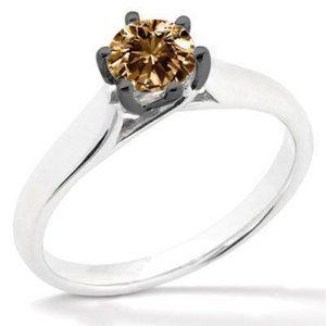 1.01 ct.chocolat diamond solitaire wedding ring